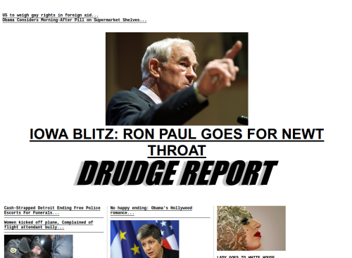 Ron Paul Drudge headline